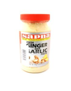 Minced Ginger & Garlic Paste 1KG by Sapna | Buy Online at the Asian Cookshop